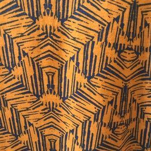 LuLaRoe Tops - Large LuLaRoe Classic T chevron blue yellow